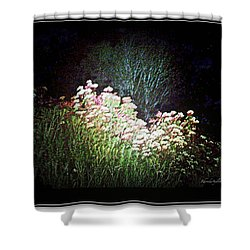 Flowers At Night Shower Curtain