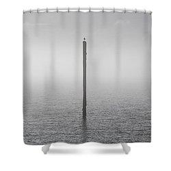 Fog On The Cape Fear River Shower Curtain