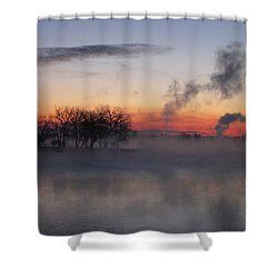 Fog On The Lake Shower Curtain