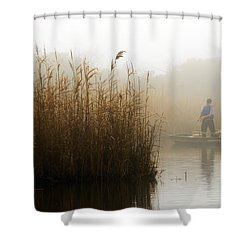 Foggy Fishing Shower Curtain