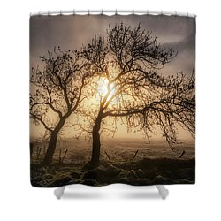 Shower Curtain featuring the photograph Foggy Morning by Jeremy Lavender Photography