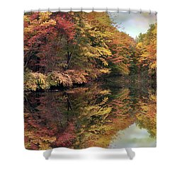Shower Curtain featuring the photograph Foliage Reflections by Jessica Jenney
