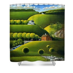 Foothills Of The Berkshires Shower Curtain by John Deecken