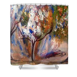 For Love Not Money  Shower Curtain by Judith Desrosiers