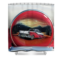 Ford Fairlane Rear Shower Curtain by Dave Mills