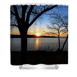 Ford Lake Sunset Shower Curtain