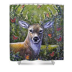 Forest Monarch Shower Curtain