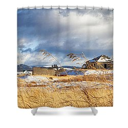 Forgotten Farmhouse Shower Curtain by Theresa Tahara