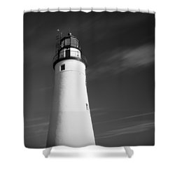 Shower Curtain featuring the photograph Fort Gratiot Lighthouse by Gordon Dean II