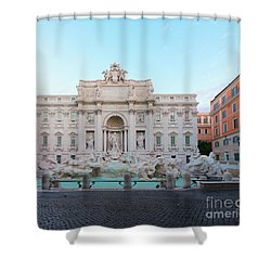 Fountain Di Trevi And Sunrise, Rome Shower Curtain by Anastasy Yarmolovich