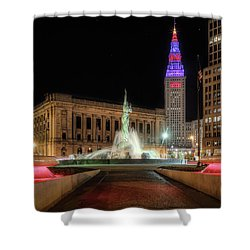 Fountain Of Eternal Life Shower Curtain by Brent Durken