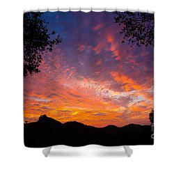 Framed Sunrise Shower Curtain