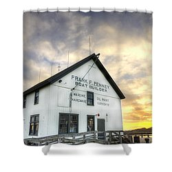 Frank F. Penney Boat Builder Shower Curtain