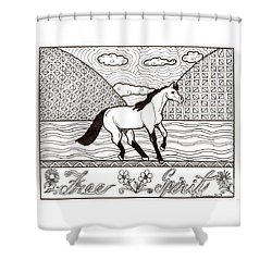 Free Spirit Shower Curtain by Wendy Coulson