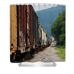 Freight Train Shower Curtain
