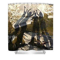 Friends Shower Curtain by Julie Niemela