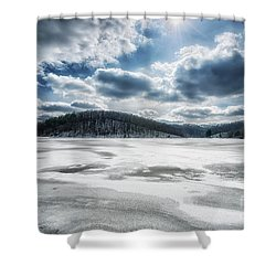 Frozen Lake Shower Curtain by Thomas R Fletcher