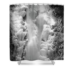 Frozen Multnomah Falls Shower Curtain