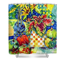 Fruit And Coleus Shower Curtain