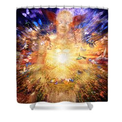 Gaia's Vibe Shower Curtain