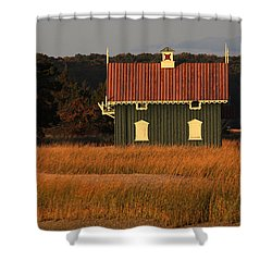 Gamecock Cottage Stony Brook New York Shower Curtain by Bob Savage