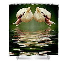 Shower Curtain featuring the photograph Garlic Cloves Of Garlic by David French