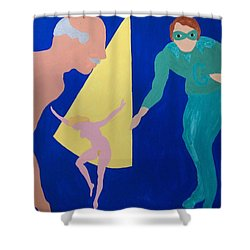 Shower Curtain featuring the painting Counselor by Erika Chamberlin