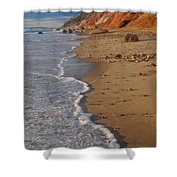 Gayhead Cliffs Marthas Vineyard Shower Curtain