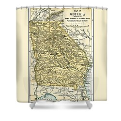 Georgia Antique Map 1891 Shower Curtain