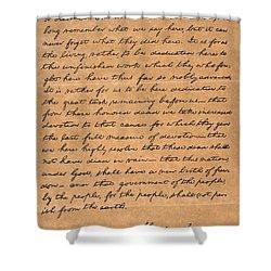 Gettysburg Address Shower Curtain by Granger