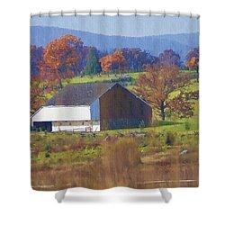 Gettysburg Barn Shower Curtain by Bill Cannon