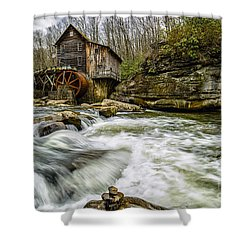Glade Creek Grist Mill Shower Curtain by Thomas R Fletcher