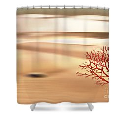 Shower Curtain featuring the digital art Global Warming by Klara Acel