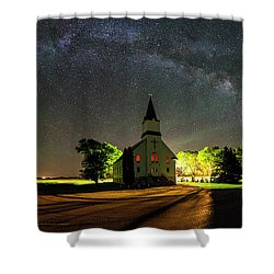 Shower Curtain featuring the photograph Glorious Night by Aaron J Groen