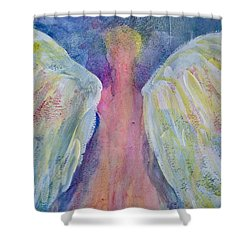 Glowing Angel Shower Curtain by Jeanne MCBRAYER