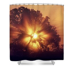 God Is Light Shower Curtain