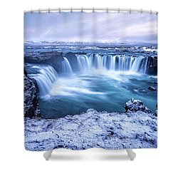 Godafoss Waterfall In Iceland Shower Curtain