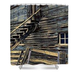 Golden Barn  Shower Curtain by Wayne Sherriff