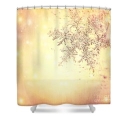Golden Christmas Background Shower Curtain