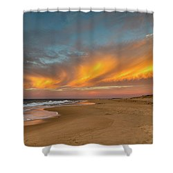 Golden Clouds Shower Curtain