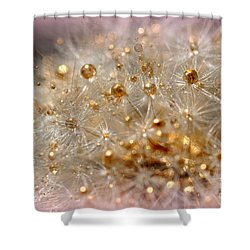 Golden Flower Shower Curtain