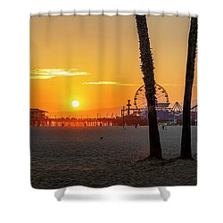 Golden Glow At Sunset Shower Curtain