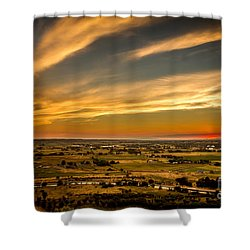 Shower Curtain featuring the photograph Golden Hour by Robert Bales
