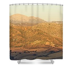 Golden Light In Andalusia Shower Curtain