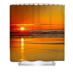 Golden Sunset Shower Curtain by Robert Bales