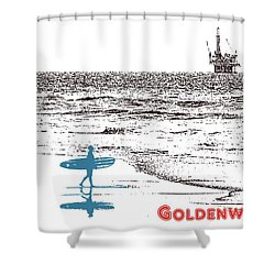 Goldenwest Shower Curtain by Everette McMahan jr