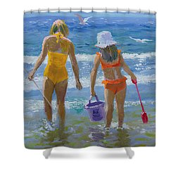 Gone Fishing  Shower Curtain by William Ireland