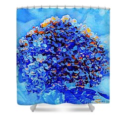 Got The Blues Shower Curtain by MaryLee Parker