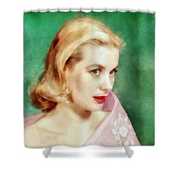 Grace Kelly By John Springfield Shower Curtain