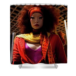 Colored Girl Shower Curtain
